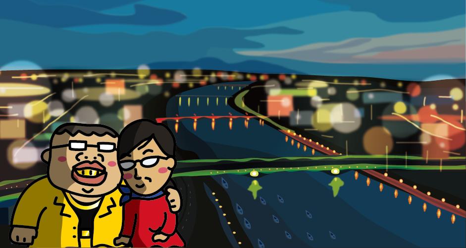 信濃川(朱鷺メッセ)夜景100選