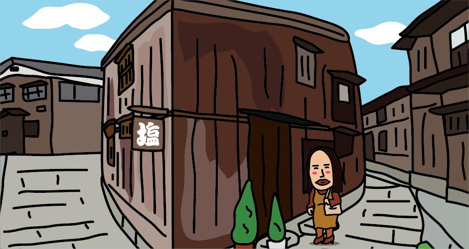 佐渡島宿根木(三角の家)吉永小百合