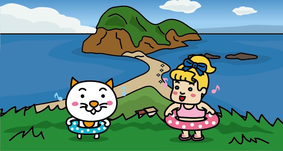 佐渡島(二ツ亀の海水浴場)