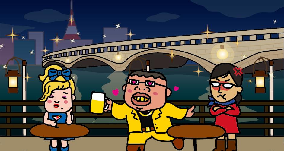 新潟市の萬代橋(サンセットカフェ)