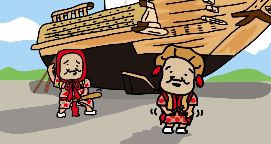 佐渡島(北前船の里・宿根木)宿根木まつり(ちとちんとん)
