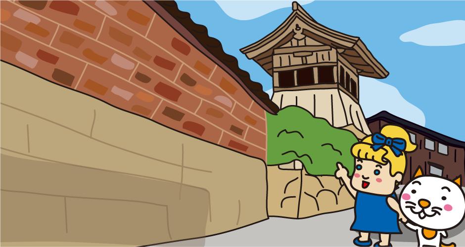 佐渡金山 相川の町並み 鐘楼 時楼