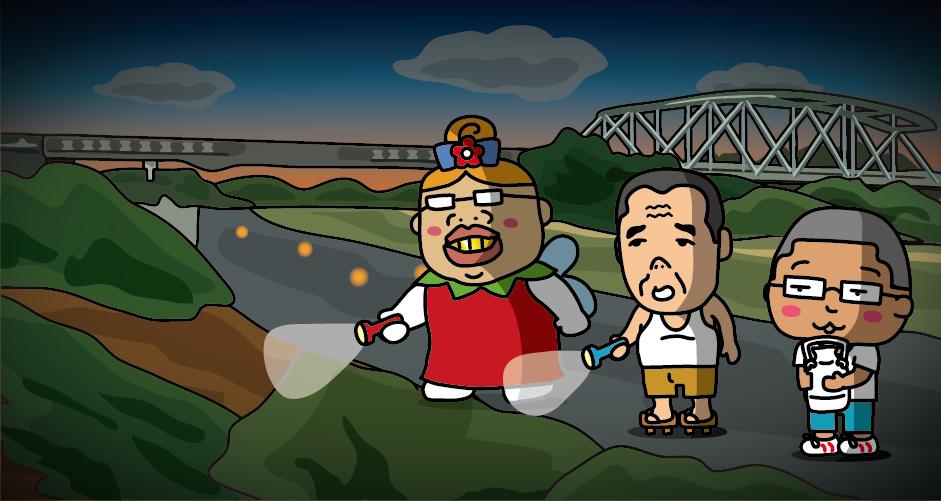 『銀河鉄道の夜』で「大きな橋のやぐら」と描写された朝日橋(岩手県花巻市)