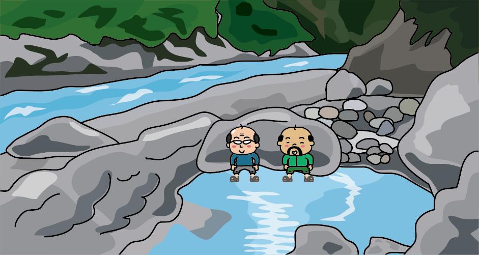 黒部峡谷鉄道の鐘釣駅から階段を下りた河原には鐘釣温泉の露天風呂があります。すぐ目の前には黒部川が流れています。