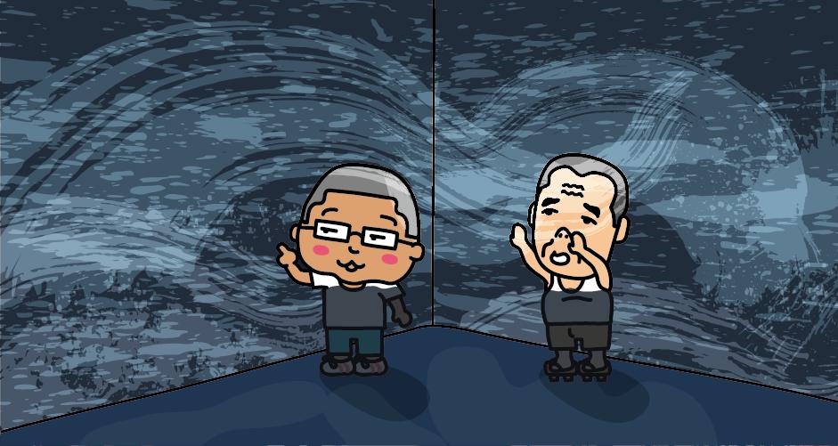 「大鳴門橋架橋記念館」(愛称:エディ)では、プロジェクションマッピングを使った渦潮の疑似体験ができます。
