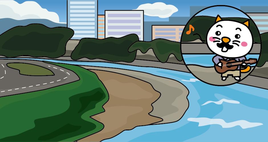 広瀬川は仙台城の外堀のように流れています。本丸跡からも広瀬川を望むことができて、1970年代に大ヒットした『青葉城恋唄』の歌詞をメロディにのせながら口ずさんでしまいます。