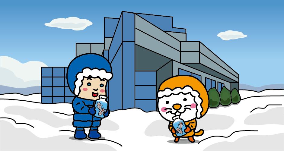 北海道紋別市 オホーツク流氷科学センター クリオネが通年で展示してある
