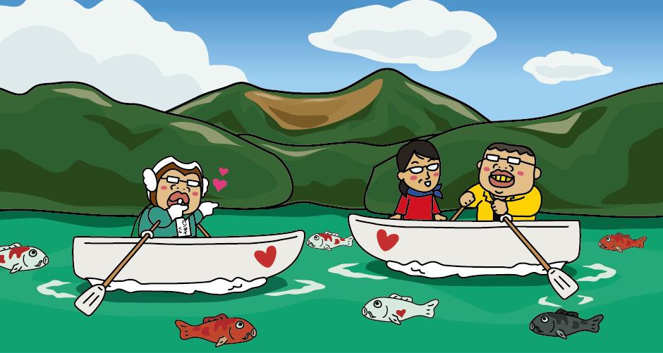 裏磐梯 五色沼 毘沙門沼 赤沼 弁天沼 るり沼 青沼 大小30余りの湖沼の総称 毘沙門沼 貸しボート ハートの鯉 散策 遊歩道