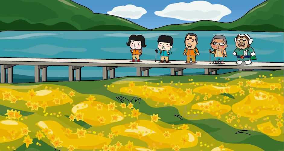 猫魔ヶ岳 火山湖 雄国沼 6月下旬から7月上旬 ニッコウキスゲ レンゲツツジ