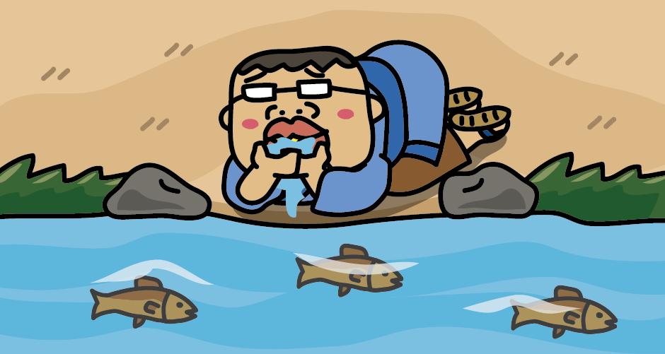 三湖伝説(八郎太郎伝説)喉が渇く