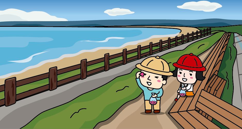 能登金剛(増穂浦海岸) 世界一長いベンチ